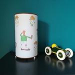 Lampe à poser faite à partir d'un dessin d'enfant  - Création Abat-jour B et Déco  - Gironde