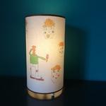 Lampe à poser faite à partir d'un dessin d'enfant  - Création Abat-jour B et Déco  - Le Pyla