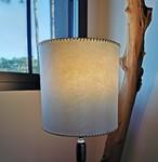 Restauration de lampe en parchemin