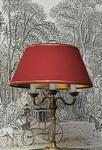 Lampe à poser restaurée par l'atelier Abat-jour B & Déco