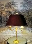 Belle restauration d'une lampe Bouillotte par Brigitte Boulet le Pyla